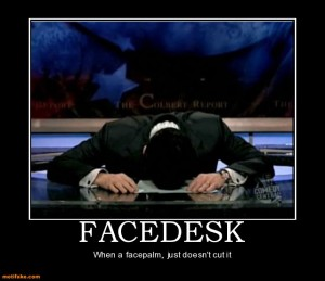 Facedesk Stephen Colbert